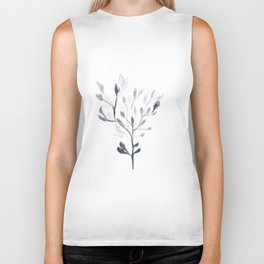 Watercolour Tree 4  |Modern Watercolor Art | Abstract Watercolors Biker Tank