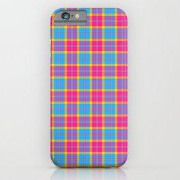 PanSexual Pride Tartan | LGBTQ Pride | Pink and Blue Plaid iPhone Case