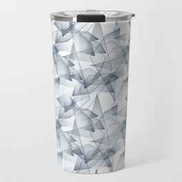 Abstract pattern.the effect of broken glass. Travel Mug
