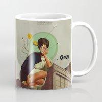 grey Mugs featuring Grey by Frank Moth