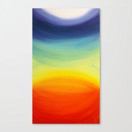 """Chakras"" Original oil finger painting by Monika Toth Canvas Print"