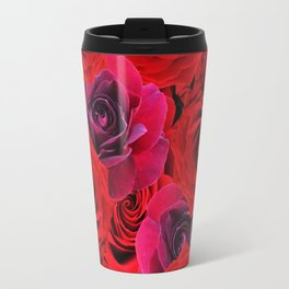 Deep Red and Purple Roses Travel Mug