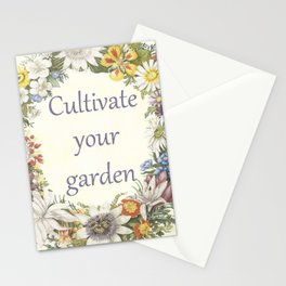 cultivate your garden (light) Stationery Cards