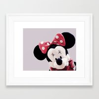 minnie mouse Framed Art Prints featuring Minnie Mouse by Ning Watson