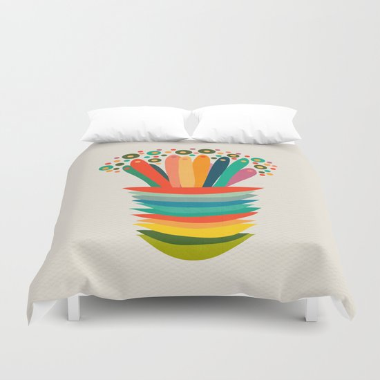 Colors and flowers Duvet Cover