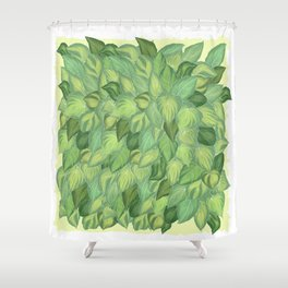 Citric Hostas, leaves arrangement in a tower shape Shower Curtain