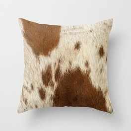 Pattern of a Longhorn bull cowhide. Throw Pillow