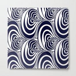 """Koloman (Kolo) Moser """"Textile pattern (Swirls)"""" (1) Metal Print"""