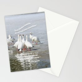 Les Oies Blanches : Si On Chantait - The White Geese : If We Sing Stationery Cards