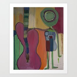 Guitar Boy Art Print