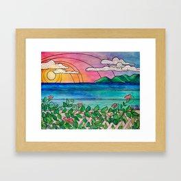 Laguna View Surf Art by Lauren Tannehill Art Framed Art Print