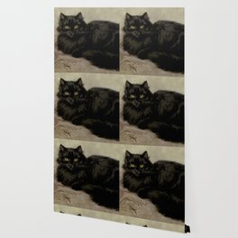 Vintage Painting of a Black Cat (1903) Wallpaper