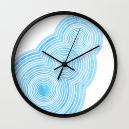 Skipping Stone Wall Clock