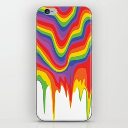 Rainbow Drip iPhone Skin