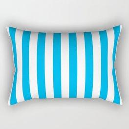 Vertical Blue Stripes Rectangular Pillow