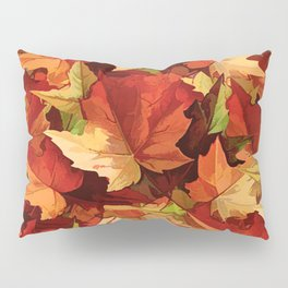 Autumn Leaves Abstract - Painterly Pillow Sham