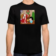 Santa Claus came to town! MEDIUM Mens Fitted Tee Black
