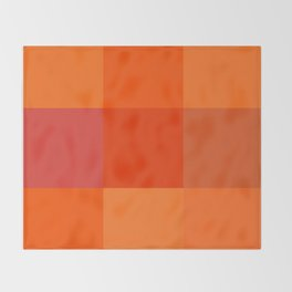 Orange palette Throw Blanket