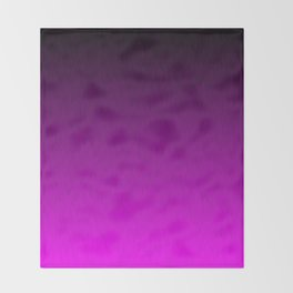 Black Purple Ombre Flames Throw Blanket