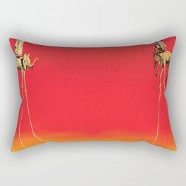 Salvador Dali The Elephants (Les Éléphants) 1948 Artwork for Wall Art, Prints, Posters, Tshirts, Men, Women, Kids Rectangular Pillow