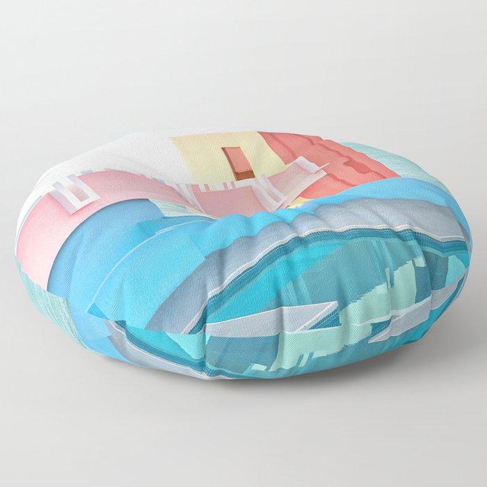 Muralla Roja Floor Pillow