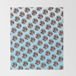 Wiener Dog Print Throw Blanket
