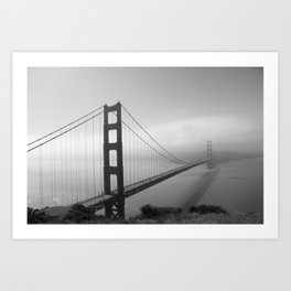 The Golden Gate Bridge In A Mist Art Print