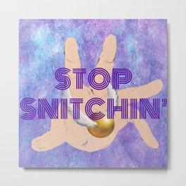 """Stop Golden Snitchin'"" Print Purple 1/2 Metal Print"
