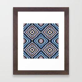 Blue Moroccan Framed Art Print