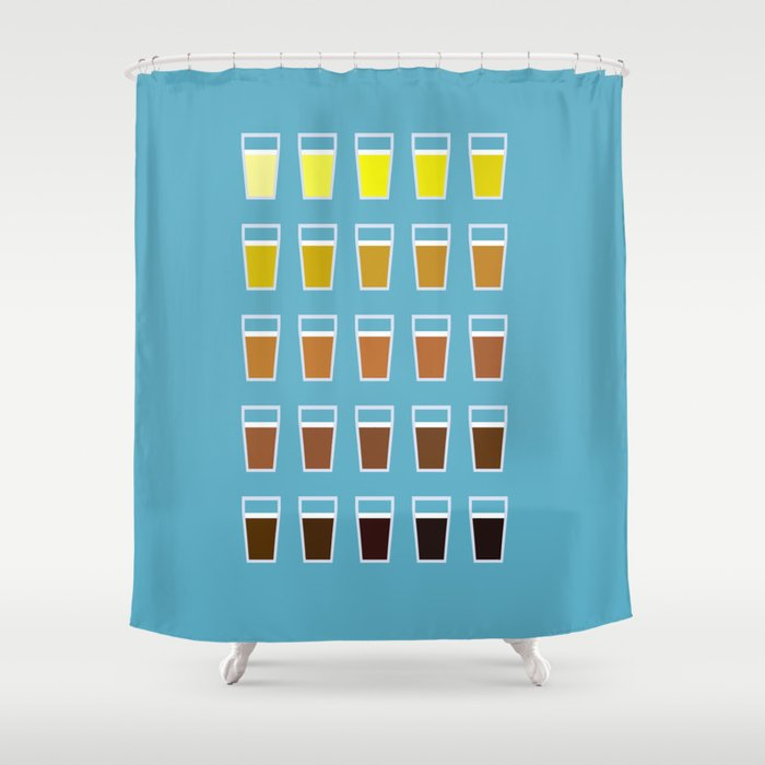 The Colors Of Beer Shower Curtain By Racheljacobs