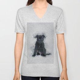 Staffordshire Bull Terrier Unisex V-Neck