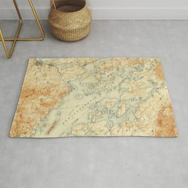 Vintage Map of Lake Winnipesaukee (1907) Rug