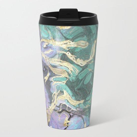 Liquid Splash Of Colors Metal Travel Mug