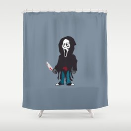 Phantom Face Shower Curtain