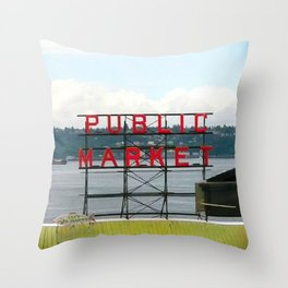 Pike Place Throw Pillow