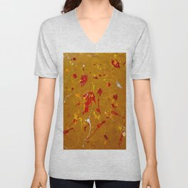 Abstract #14 Unisex V-Neck