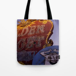 Golden Nugget Sign Tote Bag