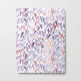 Mermaid Tails Watercolour | Purple and Orange Palette Metal Print