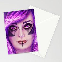 Gothic Bat Girl Stationery Cards