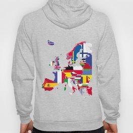 Europe flags grey Hoody