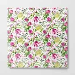 Protea Flower Bloom Metal Print