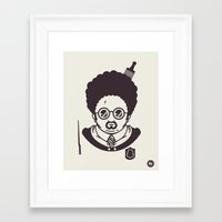 potter Framed Art Prints featuring Barry Potter by Ryder Doty