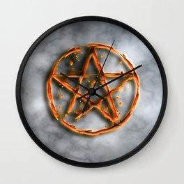Supernatural devil's trap Wall Clock
