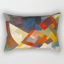 Otto Freundlich Composition, 1930 Colorful Geometric Painting Rectangular Pillow