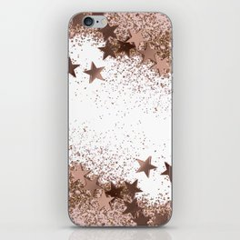 SHAKY STARS ROSEGOLD iPhone Skin