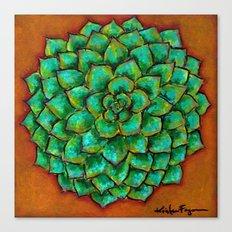 Succulent Mandala Canvas Print