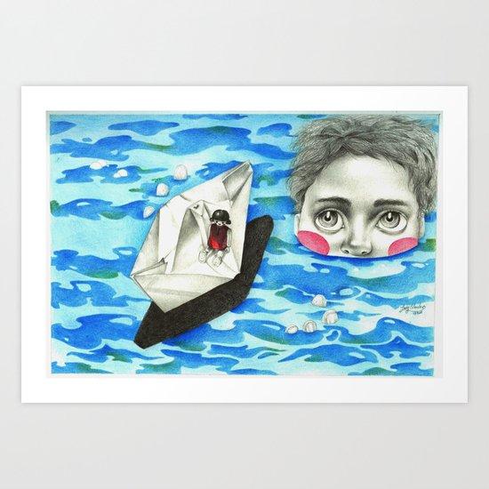 Monster from the deep Art Print