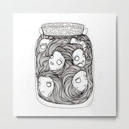 Bottled up emotions Metal Print