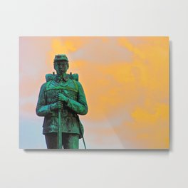 A Soldier's Sunset Metal Print