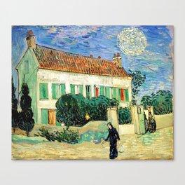 Vincent van Gogh White House at Night Canvas Print